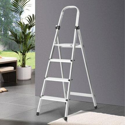 梯子家用折疊四步梯鋁合金踏板梯加厚加粗多 室內扶梯人字梯