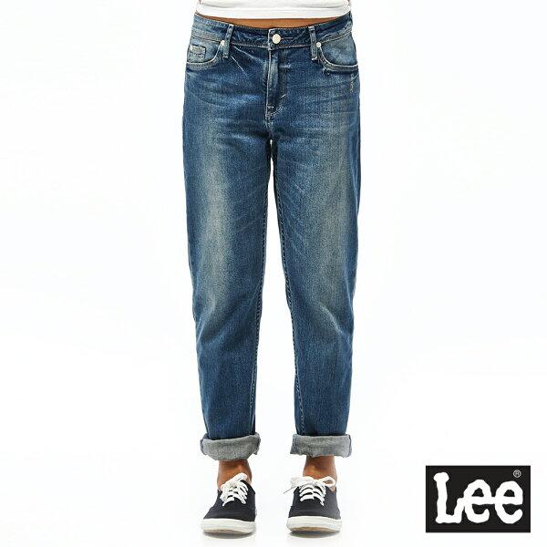 Lee401中腰標準合身小直筒牛仔褲-女款