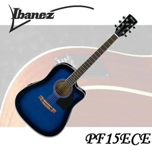 【非凡樂器】Ibanez PF15ECE 電木吉他 藍色 專業規格/高品質/絕佳音質€