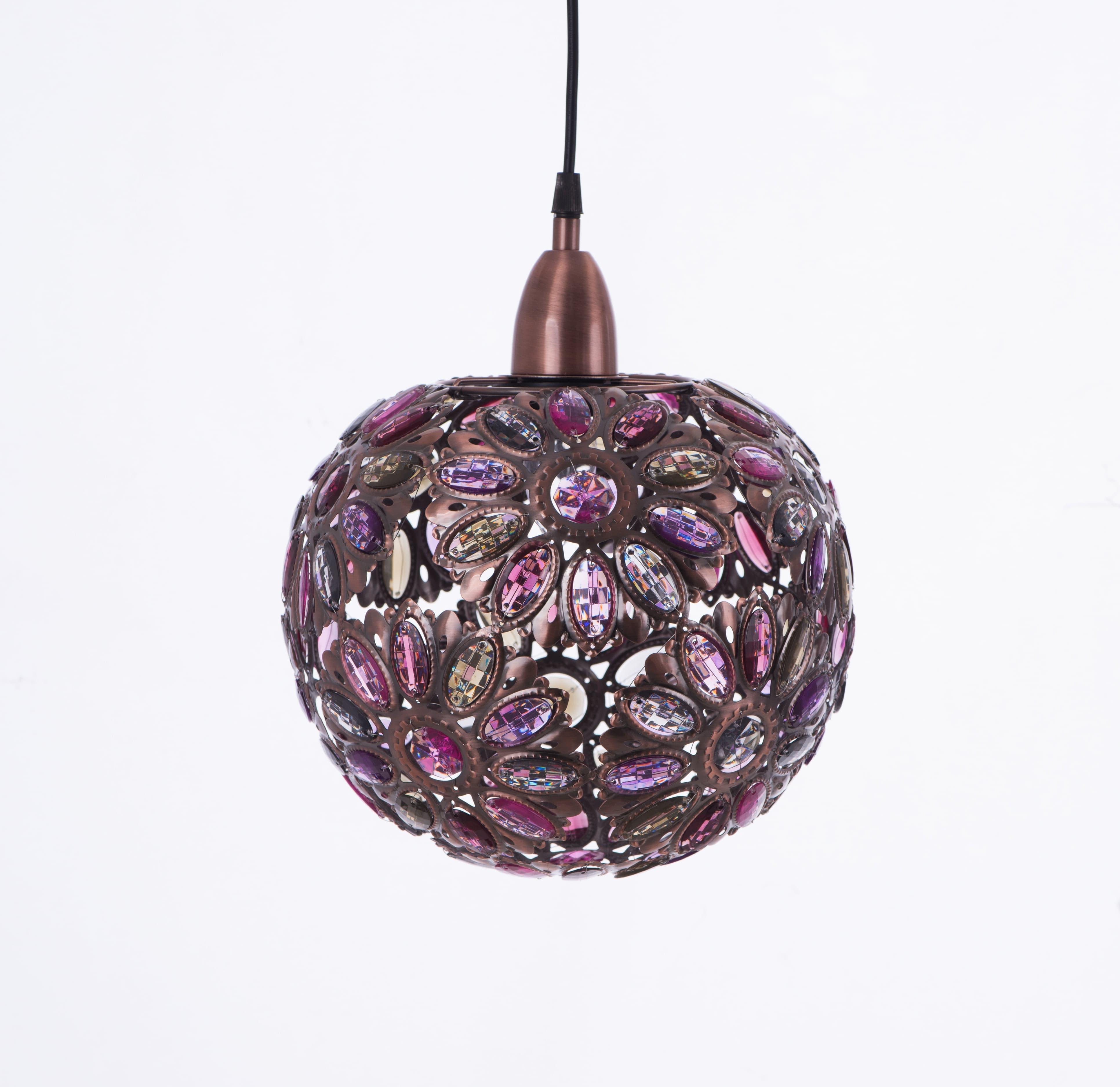 紅銅波斯蘭菊吊燈-BNL00087 0
