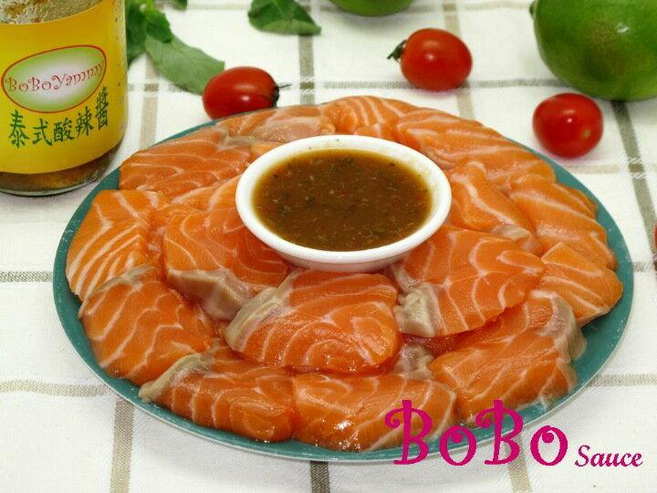 BOBO 食譜 - 生鮭魚片沾酸辣醬