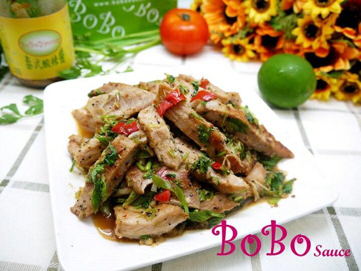 BOBO 食譜 - 泰式蒜香松板豬