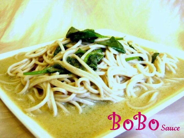 BOBO 食譜 - 泰式綠咖哩拌麵