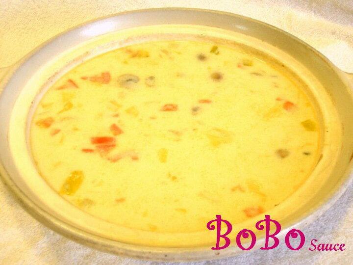 BOBO 食譜 - 泰式綠咖哩海鮮蘑菇濃湯
