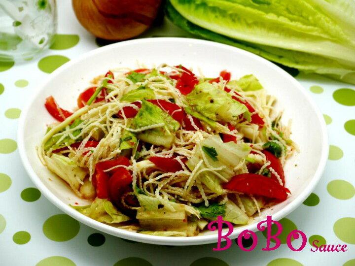 BOBO 食譜 - 全素食泰式涼拌檳榔花沙拉