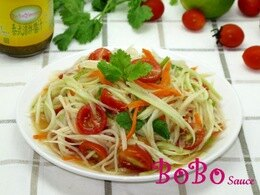 BOBO 食譜 - 全素食泰式涼拌木瓜絲
