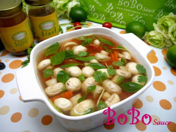 BOBO 食譜 - 全素食泰式酸辣蘑菇湯