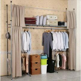 《C&B》衣世家加寬型日式頂天立地伸縮衣櫥~原價4880,開學季特價3699元