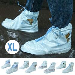 鞋套 雨鞋 防雨套 防雨 防滑 騎車 雨靴套 短版雨鞋套 男女適用 雨天 加厚耐磨 鞋子專用 男女鞋套 拉鍊式短筒加厚鞋套(XL)♚MY COLOR♚ 【B17-1】