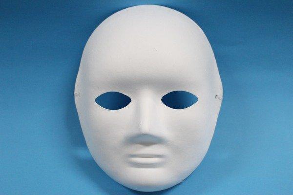 全臉面具 空白面具 DIY彩繪面具 臉譜(附鬆緊帶)/一個入{定40}歌劇魅影 DIY面具~3036