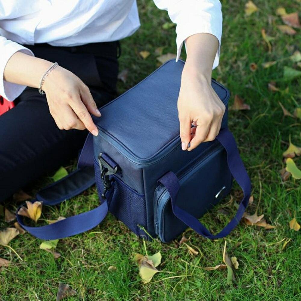 牛津布保溫包戶外野餐包防水大容量手提便當包