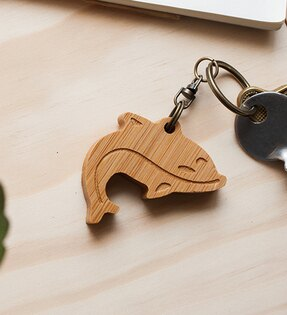 幸福森林:海豚-鑰匙圈