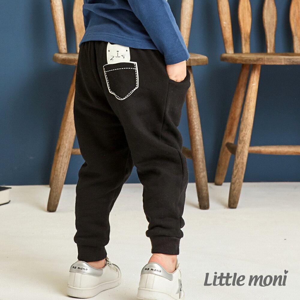Little moni 雙層加厚長褲-黑色(好窩生活節) 1