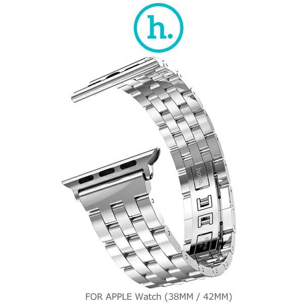 【愛瘋潮】HOCO Apple Watch 42mm 格朗鋼錶帶-五珠款
