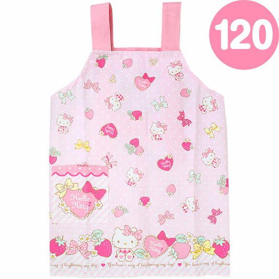 X射線~C785232~Hello Kitty草莓兒童圍裙^(120CM^),廚房圍裙