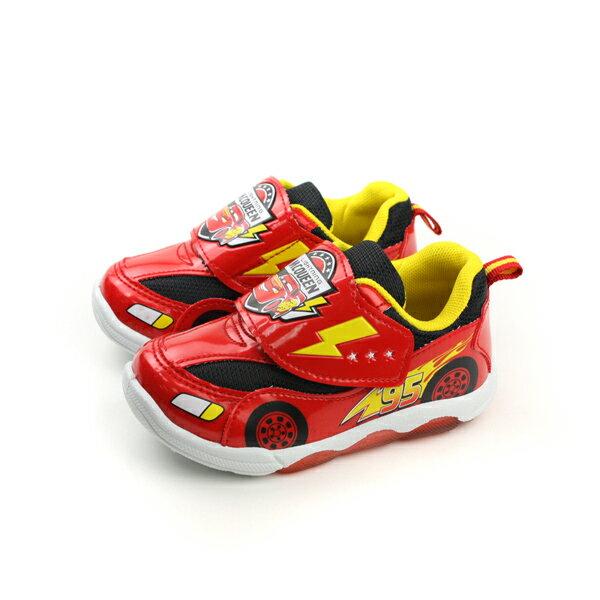 HUMAN PEACE:閃電麥坤Cars迪士尼Disney運動鞋魔鬼氈紅色中童D217013no75