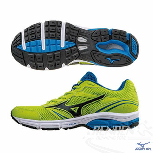 MIZUNO美津濃WAVEIMPETUS3男慢跑鞋(螢光綠*黑)暢銷支撐型鞋款