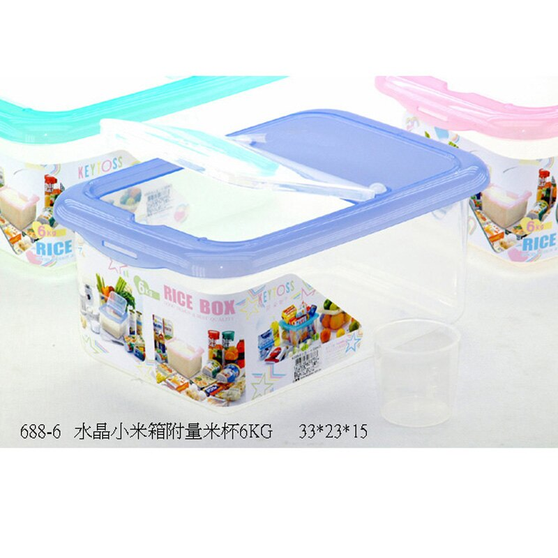 詰朵斯 K688-6 水晶米箱6kg 附量米杯 米桶 米坑 廚房 餐廳 居家 合格