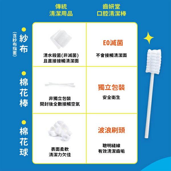 【清潔嬰幼兒口腔專用】齒妍堂 口腔清潔棒 30入 全台唯一EO滅菌 創新波浪刷頭 3