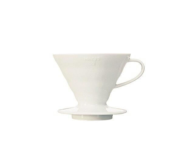 HARIO濾杯 ☆V60白色陶瓷圓錐形濾杯VDC-02W【1-4人份】
