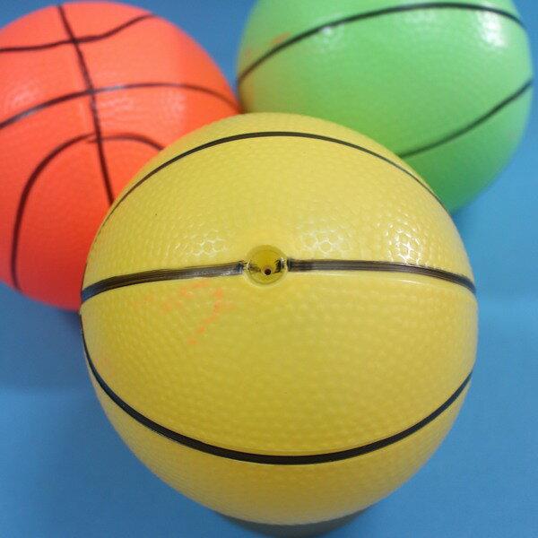 3入中安全籃球 充氣安全玩具球 兒童仿藍球 直徑13cm(加厚)/一袋3個入{促80}~創SA55-3橡皮球 橡膠球 充氣球 安全球