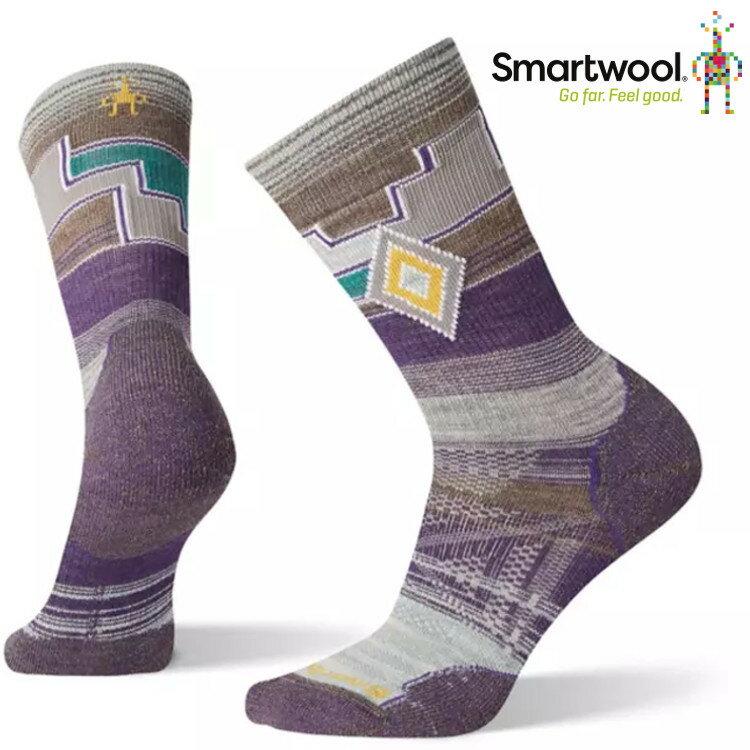 Smartwool 羊毛襪/排汗襪/保暖襪子/美麗諾羊毛 女款 PhD戶外輕量避震中長襪 SW 001146 591 山嵐紫