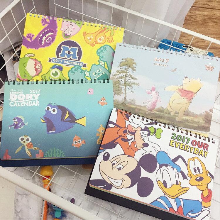 PGS7 ^(  ^) 迪士尼系列 ~ 迪士尼 2017 桌曆 月曆 日曆 行事曆 怪獸大