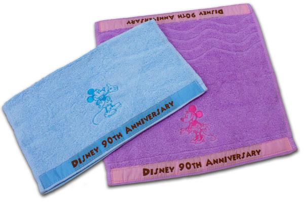 【Disney迪士尼-FJD639】柔軟波浪米奇米妮方巾 1入