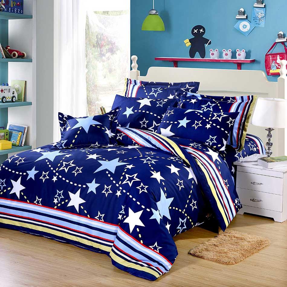 【靜夜星空】天鵝絨輕柔棉床包兩用被組