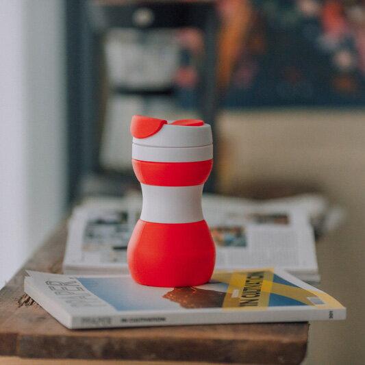 【仁舟淨塑】矽密咖啡杯 (4色可選) (防漏叩蓋/可折疊)