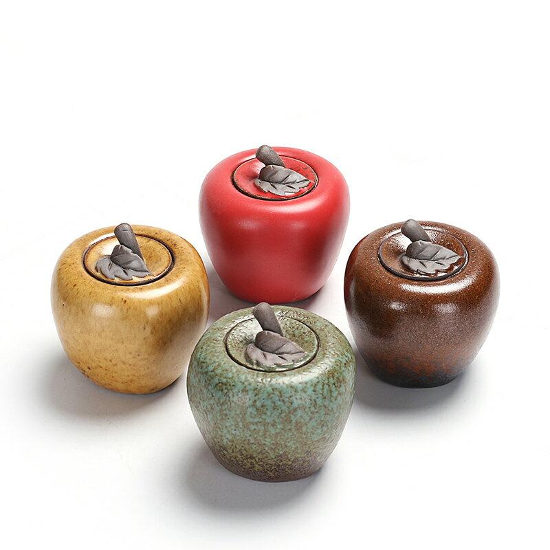 粗陶茶葉罐陶瓷茶罐子茶葉包裝盒密封罐家用便攜禮品儲存罐普洱