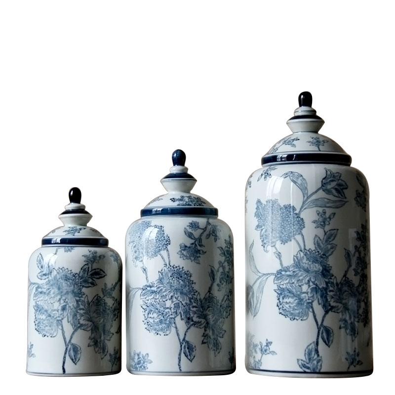 雨彤家居|陶瓷器新古典青花擺件古典青花瓷客廳玄關擺設瓷