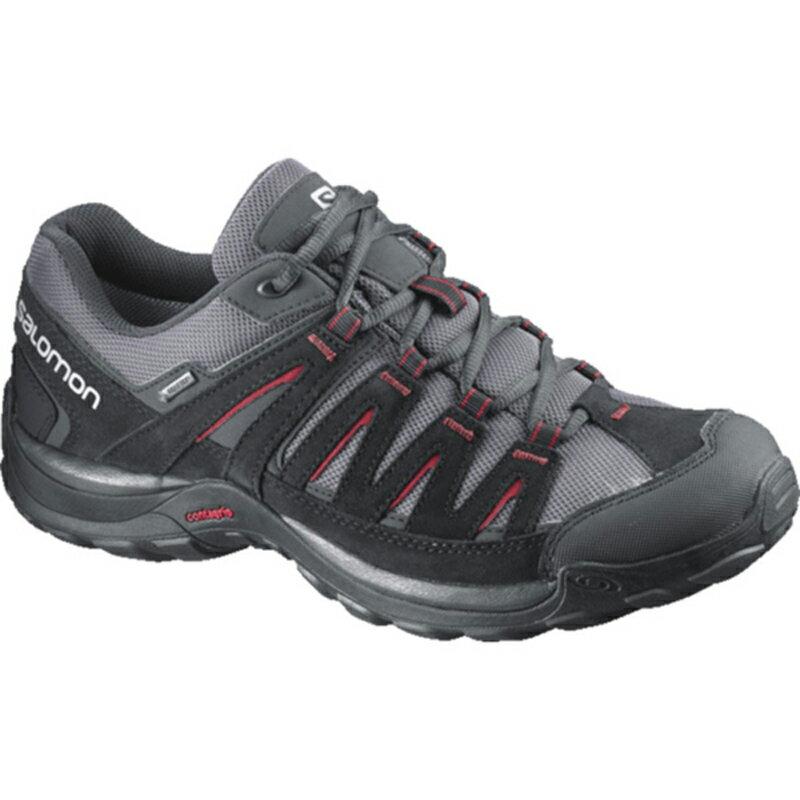 【鄉野情戶外專業】 SALOMON |法國| Norwood Gtx鞋越野跑鞋/城市慢跑鞋/戶外休閒鞋-瀝青/黑 男款 373167