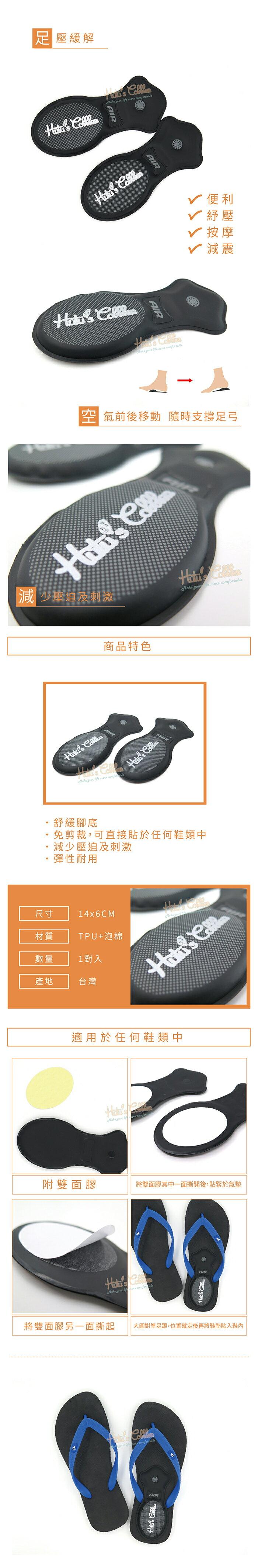 ○糊塗鞋匠○ 優質鞋材 E21 氣墊後跟墊 足壓緩解 彈性耐用 1