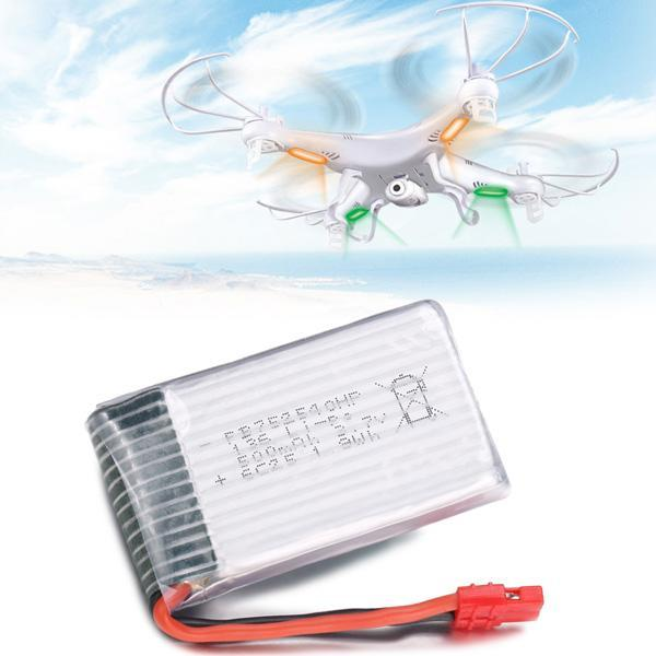 500mAh Quadcopter Spare Parts Replacement Lipo Battery for SMYA X5HW X5HC RC Quadcopter Drone 4