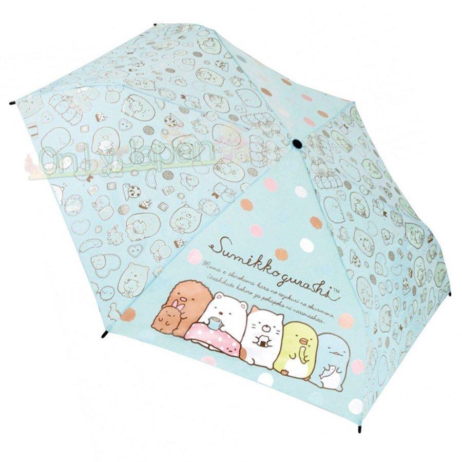 【真愛日本】4580433078044 J形手把雨傘53cm-角落baby 角落生物 角落公仔 貓咪恐龍白熊 傘 伸縮傘 彎把傘 摺傘 雨傘 方便攜帶 2