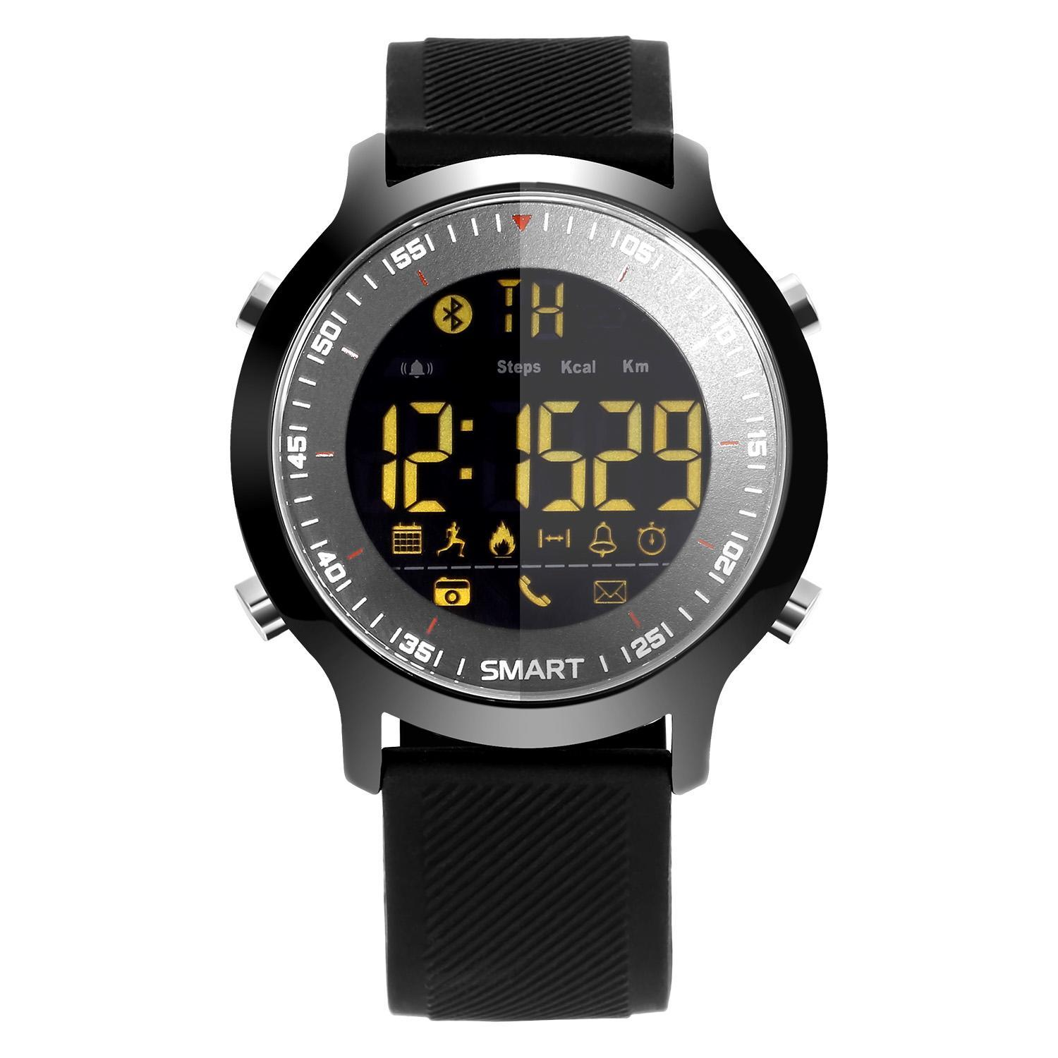Round Waterproof Night Light Sport Bluetooth Smart Watch 0