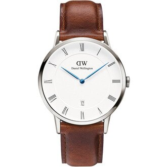 【公司貨】Daniel Wellington DW 瑞典簡約風格 38mm /棕色/復古 / DW00100087