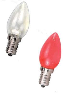 LED 燈泡★LED E12 2W 小尖清 小夜燈 神明燈 蠟燭燈 清光/紅光★永旭照明2C6-2W110LED-E120.3W-CL/R