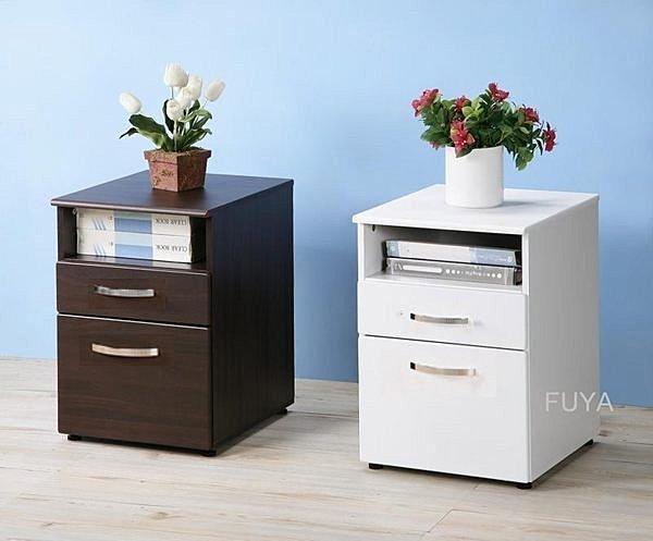 一格二抽公文櫃(熱壓成型無銳角) 活動櫃 收納櫃 床頭櫃 邊櫃~【馥葉】【型號SH070】可加購活動輪