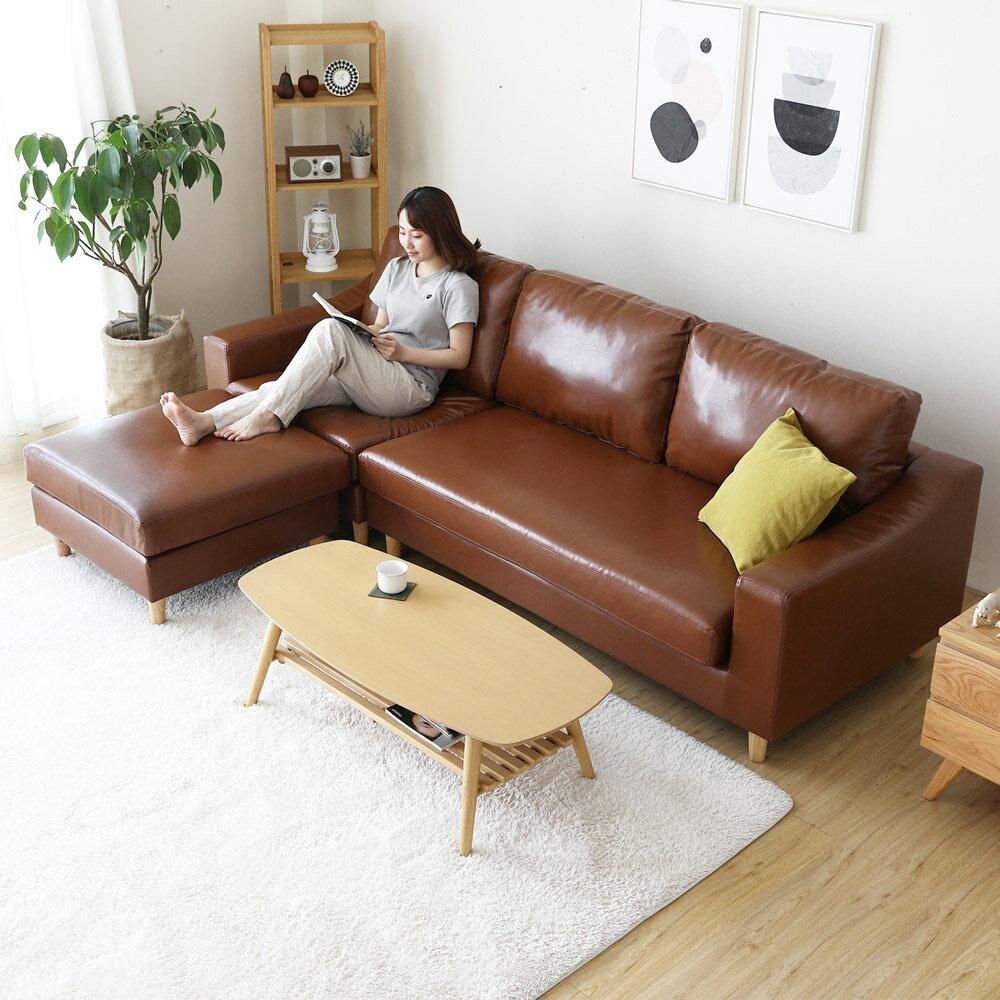 奧圖曼舒適皮革L型沙發 / 2色 / H&D東稻家居 / 好窩生活節 1