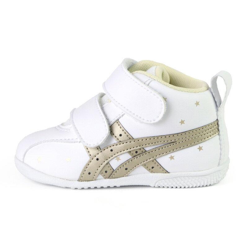 ASICS 亞瑟士 SUKU 高筒 學步鞋 寶寶鞋 小童鞋 白金 NO.R6476