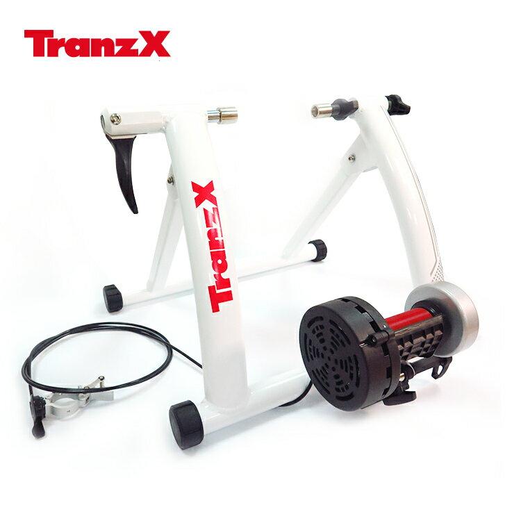 Tranz X JD-118磁阻式訓練台JD-118 白色/城市綠洲(腳踏車.健身車.訓練台.立車架.自行車訓練器)