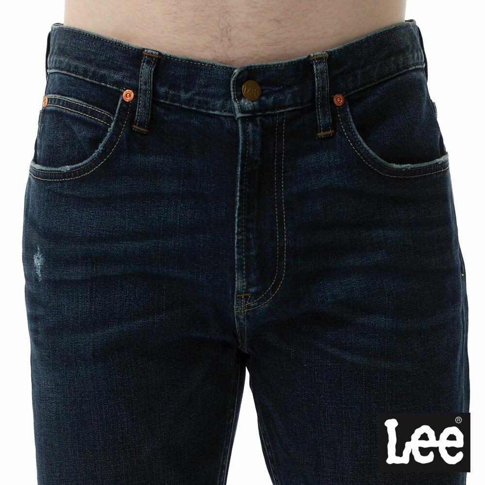 Lee 牛仔褲 731中腰舒適小直筒牛仔褲- 男款-深藍 7