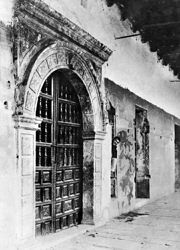 Peru Catholic Church Nexterior Of Santo Domingo Catholic Church Showing A Spanish Colonial Doorway And A Remnant Of A Wall Of The Incan Temple Of The Moon At Cuzco Peru Photograph C1900 Poster Print by (24 x 36) 1c97166a00415a5aff323a2c50b32597