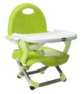 【悅兒樂婦幼用品舘】Chicco Pocket Snake攜帶式輕巧餐椅座墊(萊姆綠)