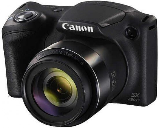 Canon PowerShot SX430 IS 20 MP Digital Camera (Black) 0