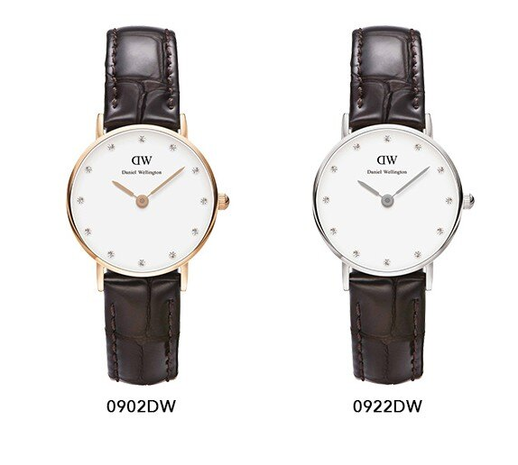 瑞典正品代購 Daniel Wellington 0922DW 銀 玫瑰金  真皮 錶帶 男女錶 手錶腕錶 26MM 1