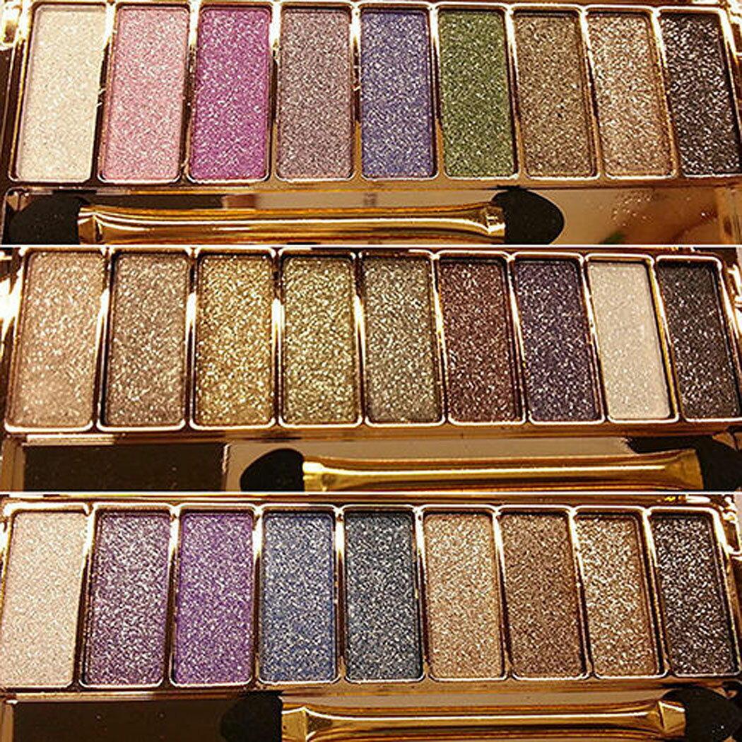 9 colors Waterproof Makeup Glitter Eyeshadow Palette with Brush 0