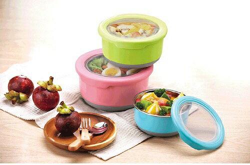 TOP-CHEF 不鏽鋼保鮮碗- 顏色隨機出貨(1200ML) [大買家] 3